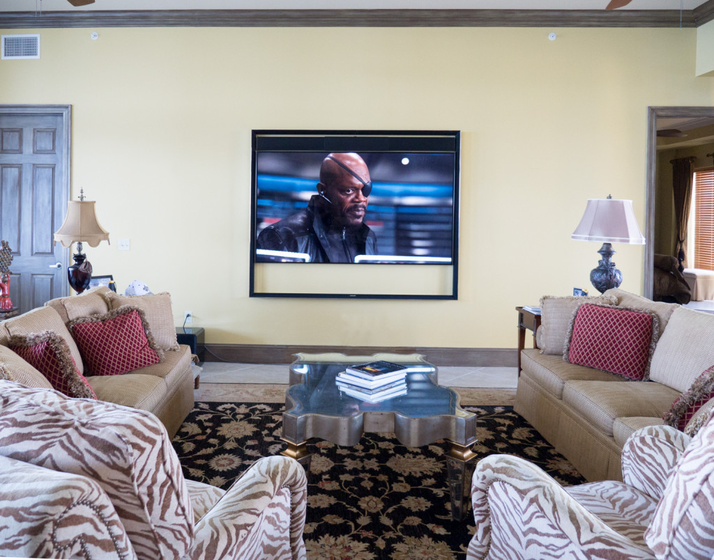 "Nick Fury on the Samsung 85"" HDTV"